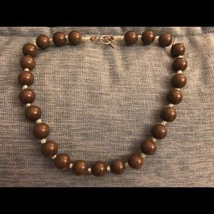 Brown Collar Necklace